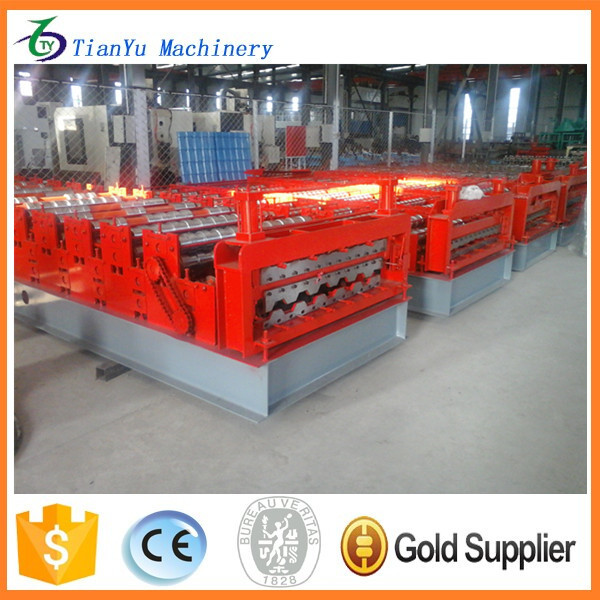 Tile Forming And Cutting Machine Type and Colored Steel Tile Type double layer tile roof roll forming machine price