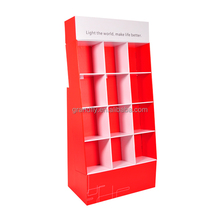 G140460-2 Customized Red Cardboard floor display rack