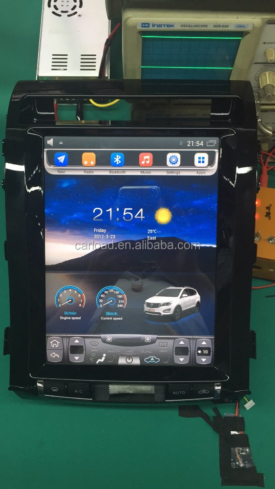 12.1 vertical car dvd with 2 din gps for android Toyota Land Cruiser 2007-2015 vertical car dvd