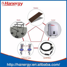 Hanergy 10 kw solar system with photovoltaic panels set