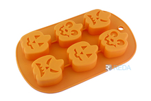 6 hold pumpkin shape cake mold for halloween