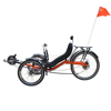 Factory Directly Supply High Carbon Steel Frame Disc Brake Fast Fashion One Person Electric Recumbent Trike