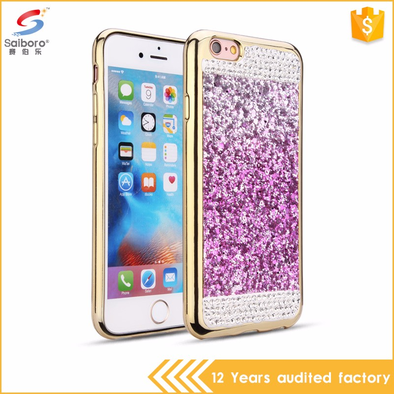 New 2016 hot slae electroplating crystal smart mobile phone case for iphone 7