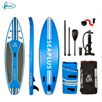 Fissot 2018 new arrival pointed PVC inflatable sup paddle board with carbon paddle
