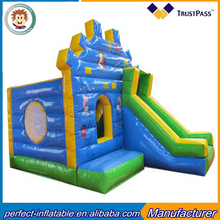 2017 latest design, small blue inflatable castle,small inflatable jumping bouncy