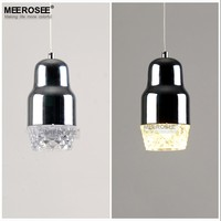Hanging Stained Glass Lamp LED Pendant Lights Bottle Chandelier for Modern Kitchen Island MD83007