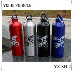 Hot selling aluminum drinking water bottle with carabiner