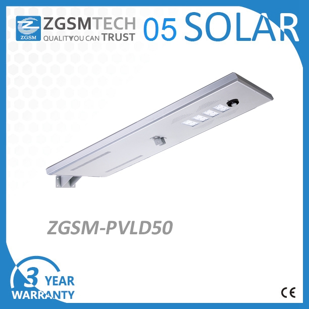 Factory wholesale 50w integrated solar street light poles IP66 car parking lot light