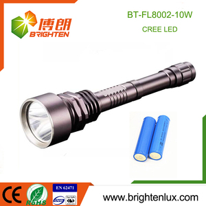 China Factory Supply Cheap Super Bright Logo printed Best Aluminum 10w Cree led rechargeable torchlight