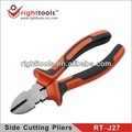 RIGHTTOOLS RT-J27 Polished finish side cutting pliers with TPR handle,wire cutting plier