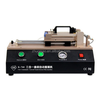 Mobile phone LCD panel repair machine OCA film machine for flat and curved panel screen TBK 768