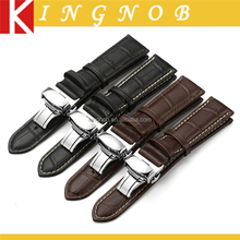 2016 Hot selling 4 colors 12mm to 24mm Genuine leather watch band strap for any syitable degign watch