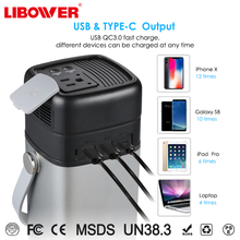 Libower Portable Power Station Power charging with Solar Input 24v 60w-100w Camping Power Station Supply