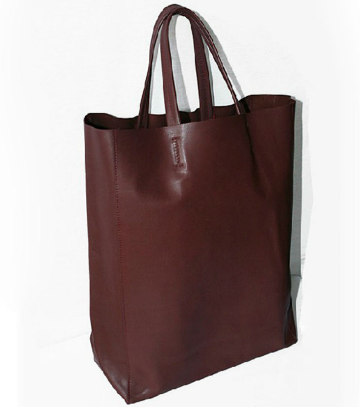 the latest large capacity simple plain design PU handbags,tote bag for women 2013