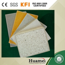 hanging acoustic gypsum ceiling sheet , pvc paper face tiles