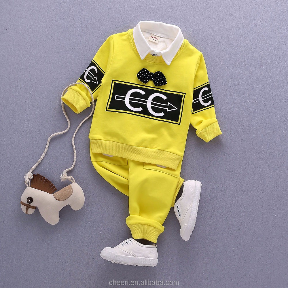 HT-GC 2017 latest china factory cheap custom design baby clothes wholesale kids suits 2 pieces children boutique clothes sets