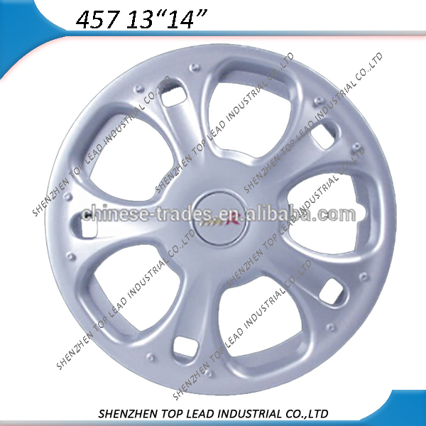 UNIVERSAL HIGH QUALITY ABS MATERIAL SILVER/CHROME CAR WHEEL COVERS 13 INCH 14 INCH WITH TYPE R