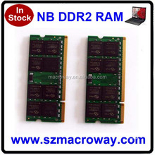 Full compatible 128*8 bits Ddr 2 Ram Memory 2gb Laptop