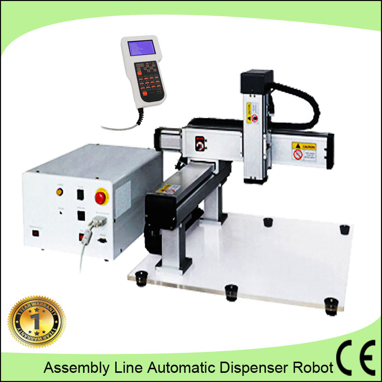 Industrial belt conveyor automatic epoxy glue dispensing robot/Double liquid pouring machine