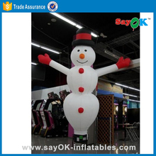 Advertising lovely inflatable customized christmas decorations snowman