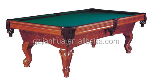 7ft 8ft 9ft Hand Carving Solid Wood Pool Table