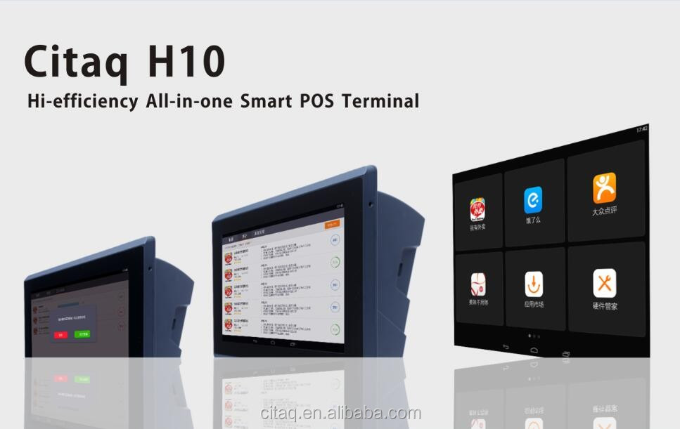 Wifi 3G 10'' Android POS terminal with thermal printer