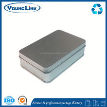 small metal rectangle hinged tin boxes