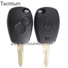 shenzhen 2 button with VAC102 blade and logo blank car remote transponder key cover shell house fob for Renault