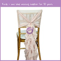 19869 Hot sale blush christmas cheap wholesale chair sashes