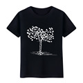 Tree Pattern Men Cotton Summer Casual Short Sleeve T-shirt Top Tee