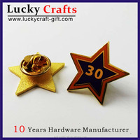 Promotion custom arts and crafts star metal lapel pin manufacturers china