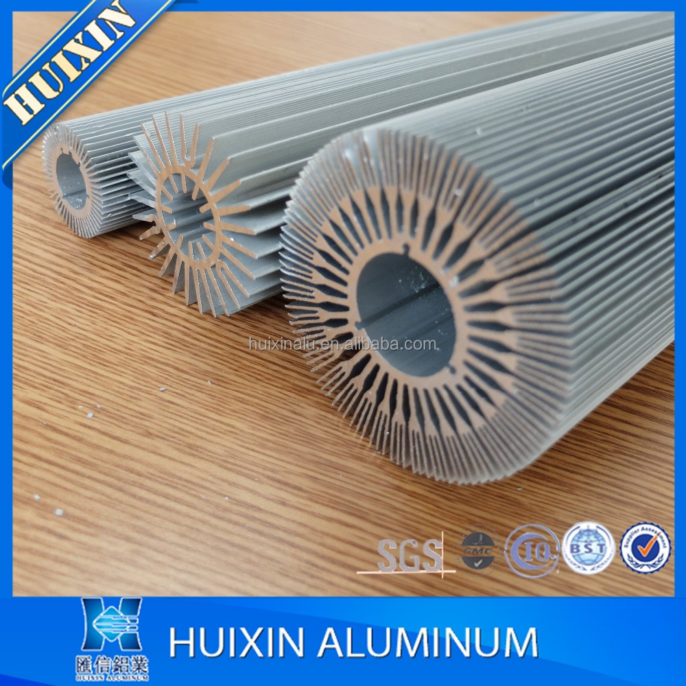 Extruded Anodized Aluminum Extrusion Heat Sink Profiles