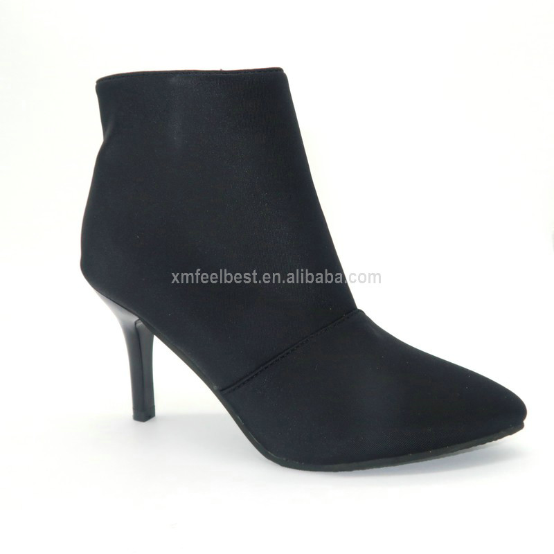 Classic chunky heel chelsea rivet lady winter warm boots
