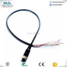 4 pin vehicle camera female aviation connector with audio& video cable in electrical waterproof wire accessories