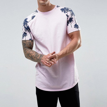 All Over Print Soft Touch Men Tall Tee Shirt, Longline T Shirt Men, Elongated tshirt
