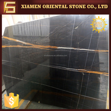 popular black saint laurent marble with white gold veins for building design