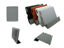 For ipad4 case smart,companion smart cover crystal Gray pc hard case