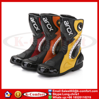 KCM2010 automobile racing shoes off-road motorcycle boots Professional moto black botas Speed Sports Motocross