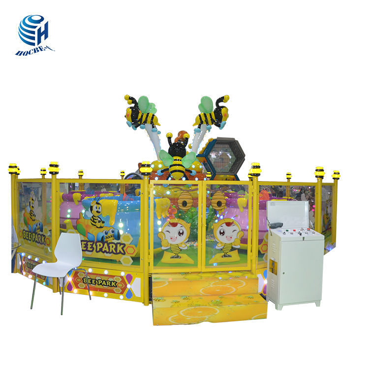 delivery fast kiddie ride cute bees rotary amusement ride for sale