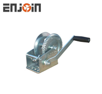 ENJOIN CE SGS approved Manufacturing 1600lbs galvanized two way one speed hand winch with cable