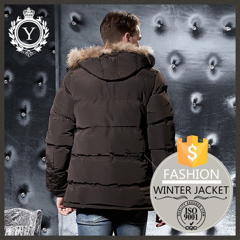 COUTUDI fashion comfy apparel super warm mens fur hood quilted puffer jacket /fleece lined bomber jacket