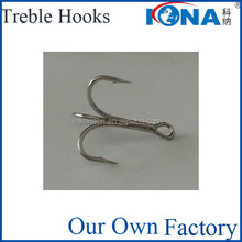 O'Shaughnessy Fishing Treble Hooks In Nickel , Black Nickel or TInned