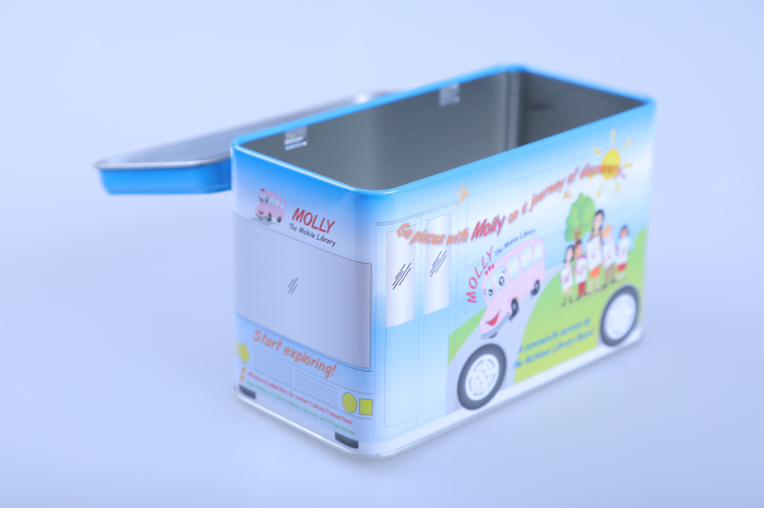 Automatic Stamping UV Coating most popular rectangular biscuit cookies tin box