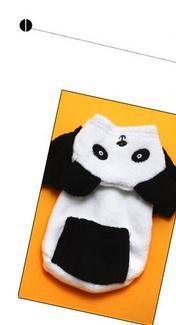 Wholesale the panda turns into dog clothes