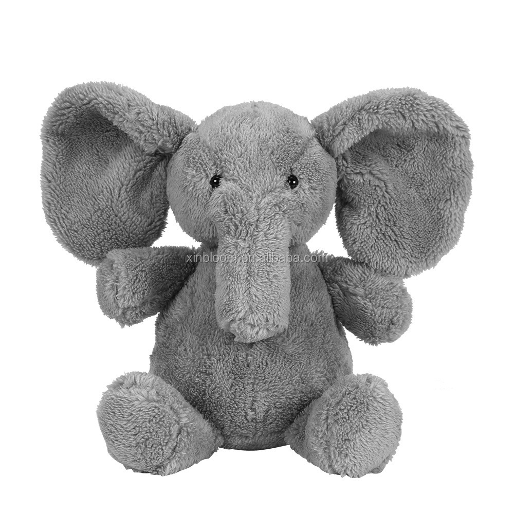 cerative cartoon animal style baby pillow toy grey plush stufed elephant doll