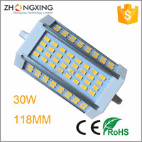 CE RoHS led r7s 30W 3300lm replace double ended rx7s 70w metal halide lamp