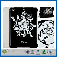 C&T Sublimation floral pattern flip smart leather cover for ipad air 2 wallet case