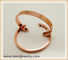 Guangzhou health jewelry supplier wholesale power balance bracelet negative ion and infrared copper band style design