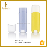 Wholesale cosmetic packaging cute shape custom lip balm tube lip balm ball container