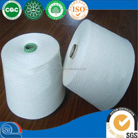 high quality 100 cotton carded yarn raw white